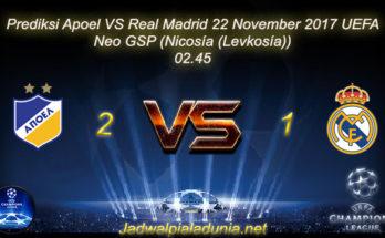Prediksi Apoel VS Real Madrid 22 November 2017 UEFA