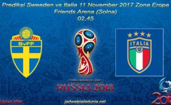 Prediksi Sweeden vs Italia 11 November 2017 Zona Eropa