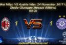 Prediksi Milan VS Austria Wien 24 November 2017 UEFA